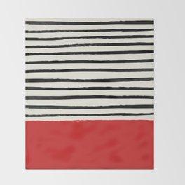 Red Chili x Stripes Throw Blanket