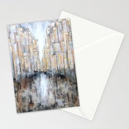 Golden nights Stationery Cards