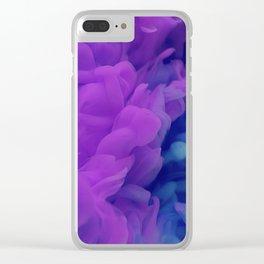 Purple Smoke Clear iPhone Case