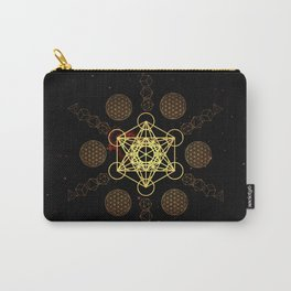 Metatron's Cube Platonic Solids Carry-All Pouch