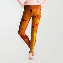 Abstract #2 - Embers Leggings