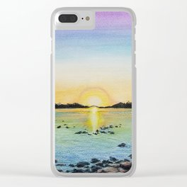 First Landing Sunset Clear iPhone Case