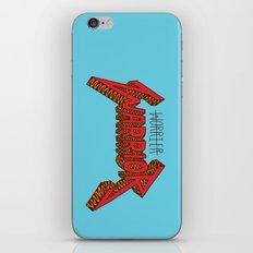 Warrior Not Worrier iPhone & iPod Skin