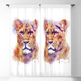 Lioness Head Blackout Curtain