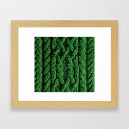 Irish sweater (green) Framed Art Print