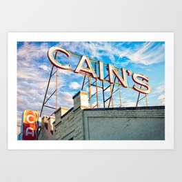 Cains Ballroom Music Hall - Downtown Tulsa Cityscape Art Print