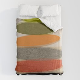 Mid-Century Modern Ovals Abstract Bettbezug
