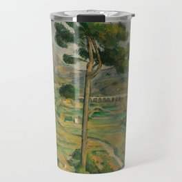 "Paul Cezanne ""Mountain Sainte-Victoire and the Viaduct of the Arc River Valley"" Travel Mug"