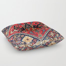 Qashqa'i Antique Fars Persian Bag Face Print Floor Pillow