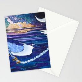 Galactic Night Heron Stationery Cards