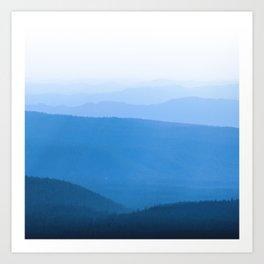Blue Smoky Mountains Art Print