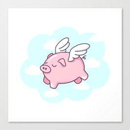 Flying Pig Canvas Print