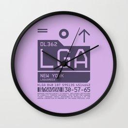 Baggage Tag C - LGA New York LaGuardia USA Wall Clock