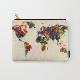 Map of the World Map Abstract Painting Carry-All Pouch