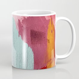 Desert Daydreams [3]: a colorful abstract mixed media piece in purple blue pinks and orange Coffee Mug