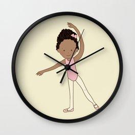 Little Ballerina 1 Wall Clock