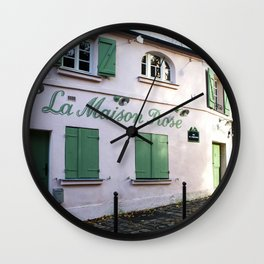 The Pink House Paris Wall Clock