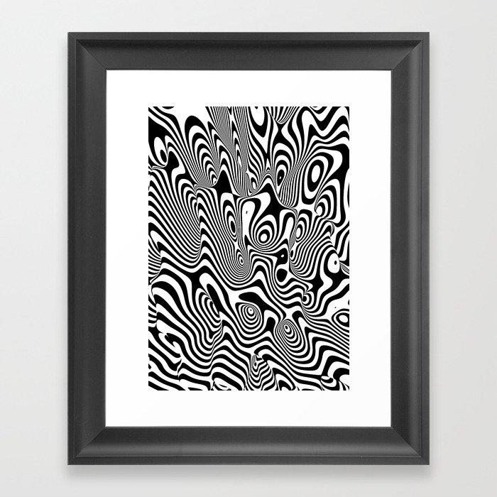Trippy Background Framed Art Print By Dannyivan Society6
