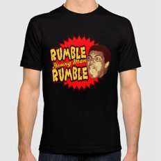 Rumble Young Man Rumble  |  Ali Black Mens Fitted Tee 2X-LARGE