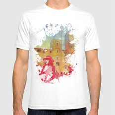 Chapeau rouge MEDIUM White Mens Fitted Tee