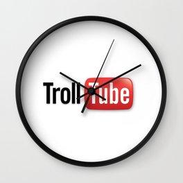 Funny Parody TrollTube Wall Clock