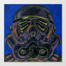 dark stormtrooper with 4 eyes Canvas Print