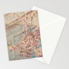 Cherry Blossoms at Washington Square Park Stationery Cards