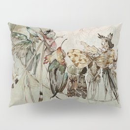 """Exotics at Play"" by Duncan Carse Pillow Sham"