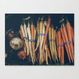 multi color carrots Canvas Print