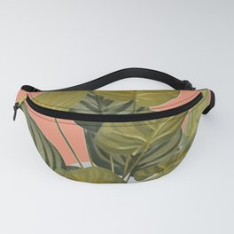 Green Plant Leaves Venture Fanny Pack