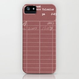 Library Card 797 Negative Red iPhone Case
