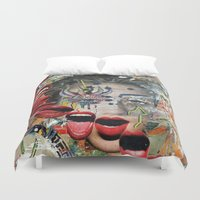 lip Duvet Covers featuring Lip Service by Katy Hirschfeld