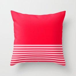 Red Gradient Stripe Throw Pillow