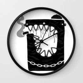 Zombie Hoodlum Wall Clock
