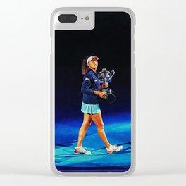 Naomi Osaka Champion Clear iPhone Case