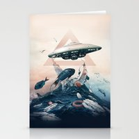 ufo Stationery Cards featuring UFO by Tanya_tk