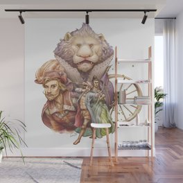 The King with the Lion Wall Mural