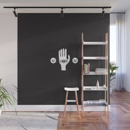 White Third Eye Palm Wall Mural