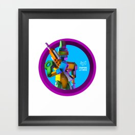 Empire of Code - punk Framed Art Print