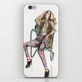 Floral Fashion iPhone Skin