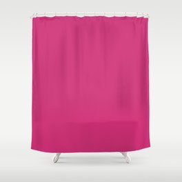 Fuchsia Pink - Solid Color Collection Shower Curtain