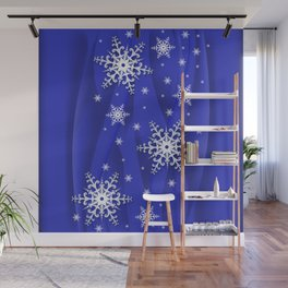 Abstract background with snowflakes Wall Mural