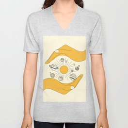 The Universe in Your Hands Unisex V-Neck