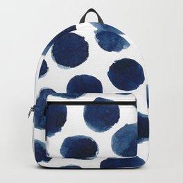 Watercolor polka dots Backpack