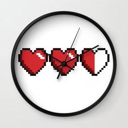 3 hearts Wall Clock