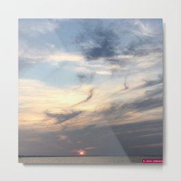 The Sun Sleeps Metal Print