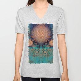 Ayahuasca - Geometric Design - Fractal - Manafold Art Unisex V-Neck