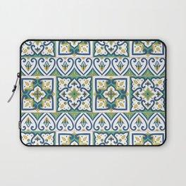 Italian Tile Pattern – Sicilian ceramic from Caltagirone Laptop Sleeve