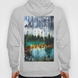 Abstract Mountain Lake Hoody
