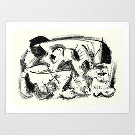 Lonely Rabbi Art Print
